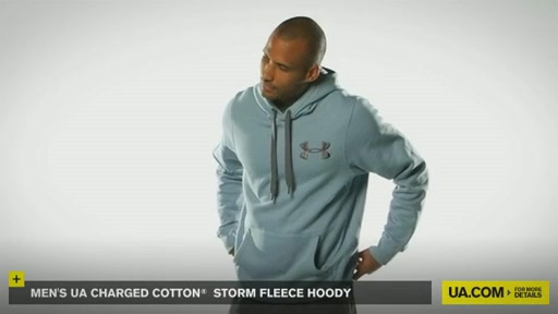 Men's UA Charged Cotton® Storm Fleece Hoody - image 2 from the video