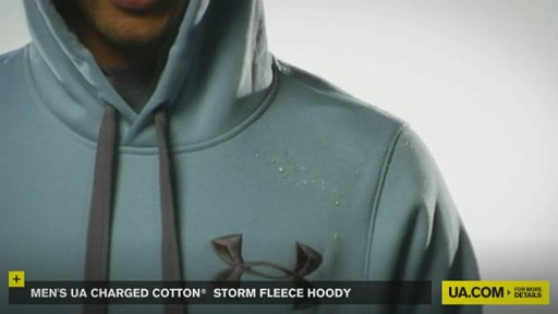 Men's UA Charged Cotton® Storm Fleece Hoody - image 7 from the video