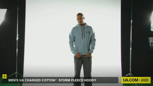 Men's UA Charged Cotton® Storm Fleece Hoody - image 9 from the video
