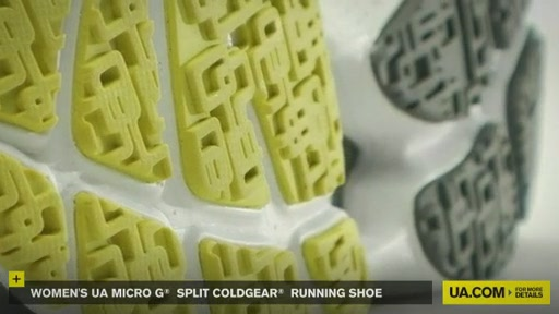 Women's UA Micro G® Split CG Running Shoe - image 6 from the video