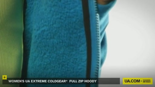 Women's Extreme ColdGear® Full Zip Hoody - image 4 from the video