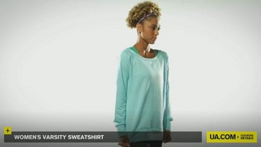 Women's Varsity Sweatshirt - image 3 from the video