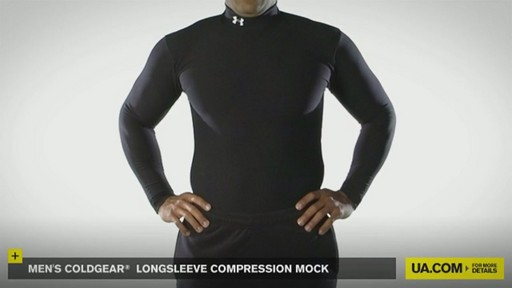 MEN'S COLDGEAR® LONGSLEEVE COMPRESSION MOCK  - image 2 from the video