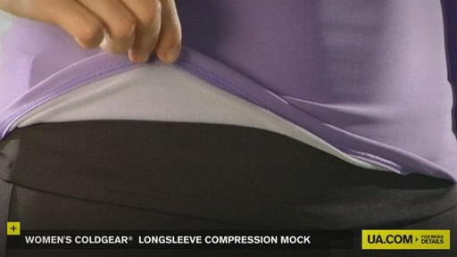 WOMEN'S COLDGEAR® LONGSLEEVE COMPRESSION MOCK  - image 7 from the video