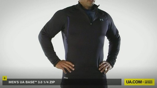 MEN'S UA BASE™ 3.0 1/4 ZIP  - image 4 from the video