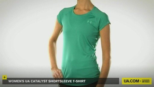 WOMEN'S UA CATALYST SHORTSLEEVE T-SHIRT - image 2 from the video