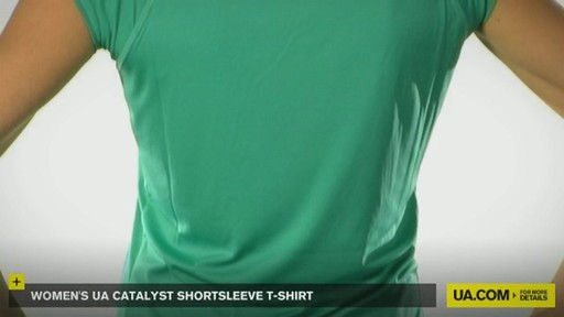 WOMEN'S UA CATALYST SHORTSLEEVE T-SHIRT - image 3 from the video