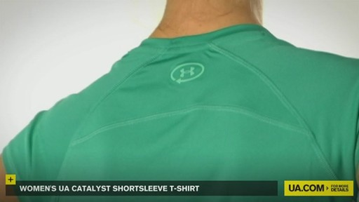 WOMEN'S UA CATALYST SHORTSLEEVE T-SHIRT - image 5 from the video