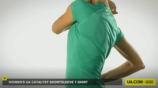 WOMEN'S UA CATALYST SHORTSLEEVE T-SHIRT - image 8 from the video