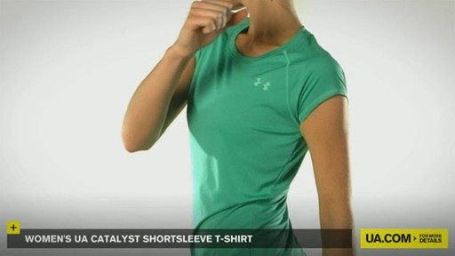 WOMEN'S UA CATALYST SHORTSLEEVE T-SHIRT - image 9 from the video