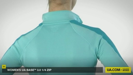 WOMEN'S UA BASE™ 3.0 1/4 ZIP  - image 3 from the video