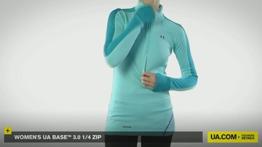 WOMEN'S UA BASE™ 3.0 1/4 ZIP  - image 4 from the video