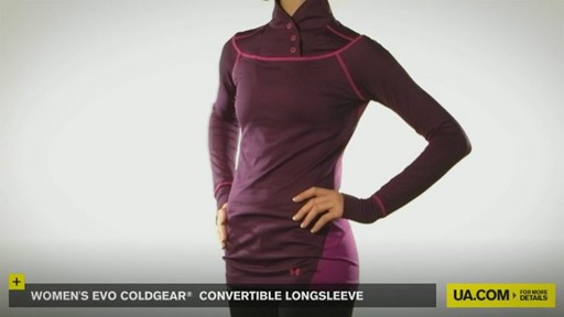 WOMEN'S EVO COLDGEAR® CONVERTIBLE LONGSLEEVE - image 2 from the video