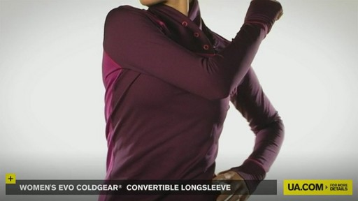 WOMEN'S EVO COLDGEAR® CONVERTIBLE LONGSLEEVE - image 8 from the video