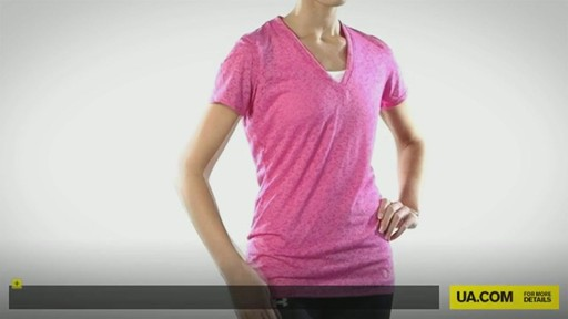 WOMEN'S UA VICTORY BURNOUT T-SHIRT - image 1 from the video
