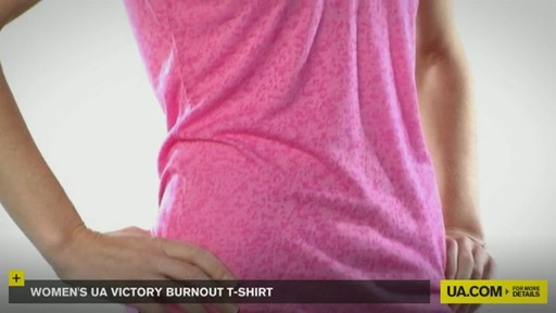 WOMEN'S UA VICTORY BURNOUT T-SHIRT - image 2 from the video