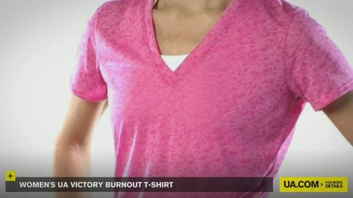 WOMEN'S UA VICTORY BURNOUT T-SHIRT - image 3 from the video