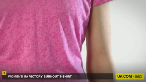 WOMEN'S UA VICTORY BURNOUT T-SHIRT - image 4 from the video