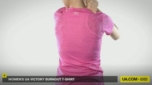 WOMEN'S UA VICTORY BURNOUT T-SHIRT - image 7 from the video