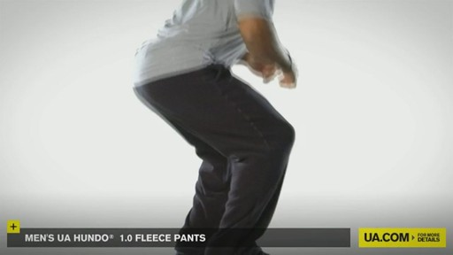 MEN'S UA HUNDO® 1.0 FLEECE PANTS - image 5 from the video