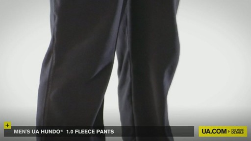 MEN'S UA HUNDO® 1.0 FLEECE PANTS - image 7 from the video