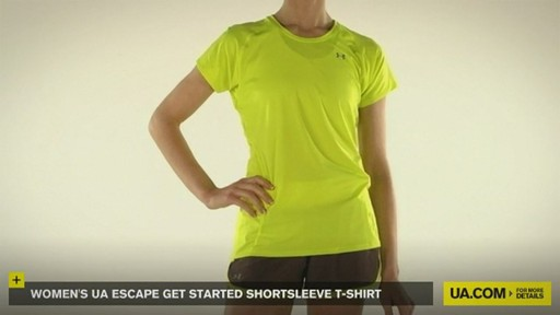 WOMEN'S UA ESCAPE GET STARTED SHORTSLEEVE T-SHIRT - image 10 from the video
