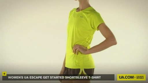 WOMEN'S UA ESCAPE GET STARTED SHORTSLEEVE T-SHIRT - image 2 from the video