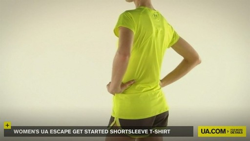 WOMEN'S UA ESCAPE GET STARTED SHORTSLEEVE T-SHIRT - image 3 from the video