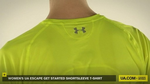 WOMEN'S UA ESCAPE GET STARTED SHORTSLEEVE T-SHIRT - image 6 from the video