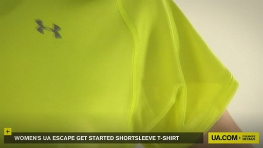 WOMEN'S UA ESCAPE GET STARTED SHORTSLEEVE T-SHIRT - image 7 from the video