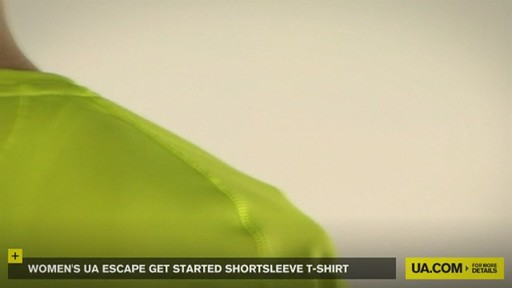 WOMEN'S UA ESCAPE GET STARTED SHORTSLEEVE T-SHIRT - image 8 from the video