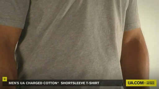 MEN'S UA CHARGED COTTON® SHORTSLEEVE T-SHIRT - image 2 from the video