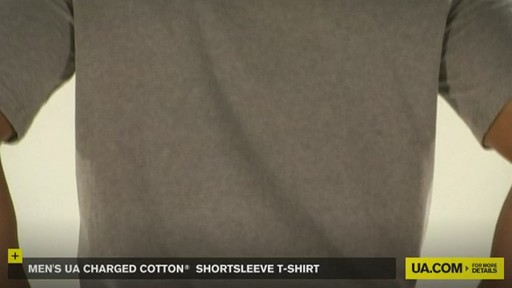 MEN'S UA CHARGED COTTON® SHORTSLEEVE T-SHIRT - image 4 from the video
