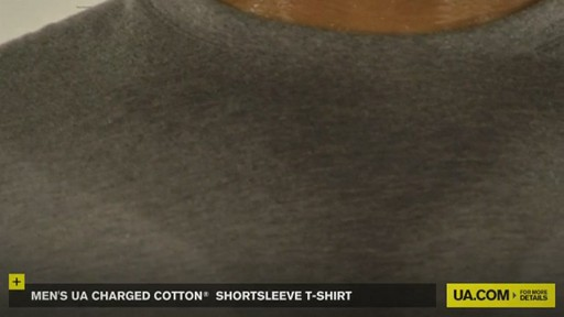 MEN'S UA CHARGED COTTON® SHORTSLEEVE T-SHIRT - image 5 from the video