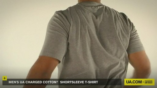 MEN'S UA CHARGED COTTON® SHORTSLEEVE T-SHIRT - image 6 from the video