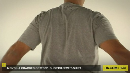 MEN'S UA CHARGED COTTON® SHORTSLEEVE T-SHIRT - image 7 from the video