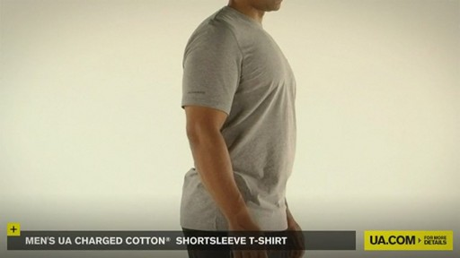 MEN'S UA CHARGED COTTON® SHORTSLEEVE T-SHIRT - image 9 from the video