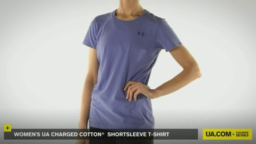 WOMEN'S UA CHARGED COTTON® SHORTSLEEVE T-SHIRT - image 2 from the video