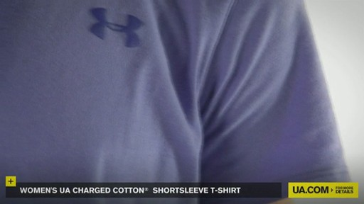 WOMEN'S UA CHARGED COTTON® SHORTSLEEVE T-SHIRT - image 3 from the video