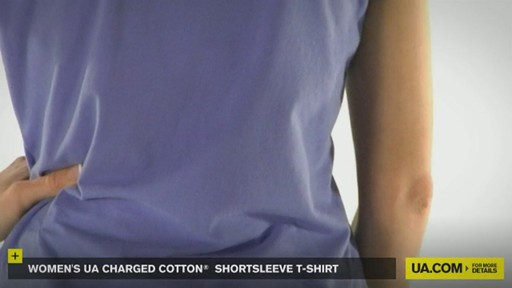 WOMEN'S UA CHARGED COTTON® SHORTSLEEVE T-SHIRT - image 5 from the video