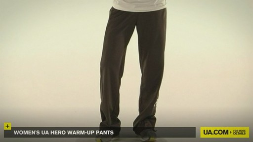 WOMEN'S UA HERO WARM-UP PANTS - image 2 from the video