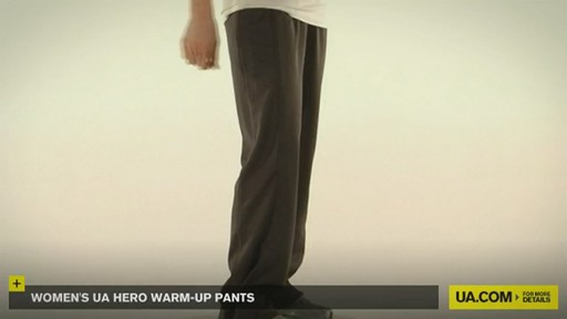 WOMEN'S UA HERO WARM-UP PANTS - image 4 from the video