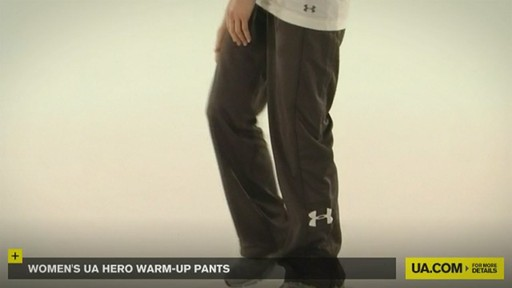 WOMEN'S UA HERO WARM-UP PANTS - image 6 from the video