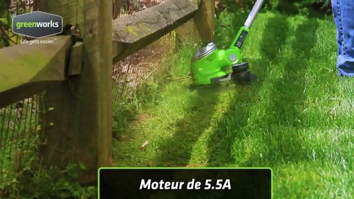 Coupe-herbe électrique Greenworks, 5,5 A - image 10 from the video
