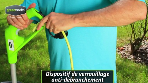 Coupe-herbe électrique Greenworks, 5,5 A - image 2 from the video