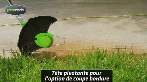 Coupe-herbe électrique Greenworks, 5,5 A - image 3 from the video
