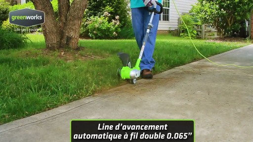 Coupe-herbe électrique Greenworks, 5,5 A - image 4 from the video