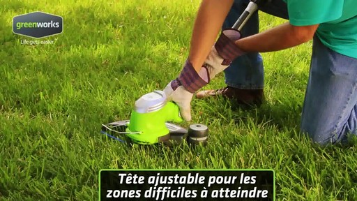 Coupe-herbe électrique Greenworks, 5,5 A - image 7 from the video