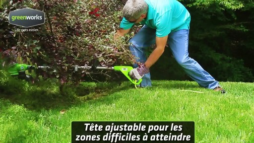 Coupe-herbe électrique Greenworks, 5,5 A - image 8 from the video
