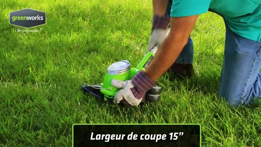 Coupe-herbe électrique Greenworks, 5,5 A - image 9 from the video